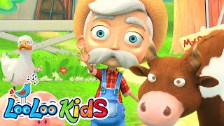 👨🏻‍🌾 Old MacDonald Had A Farm 🚜 THE BEST Song for Children | LooLoo Kids