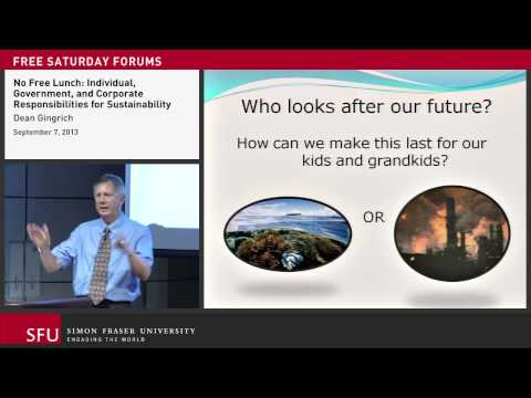 Responsibilities for Sustainability (SFU City Program lecture)