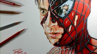 Drawing Spiderman - 3D Art - Marvel