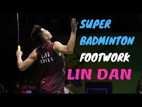 Super badminton footwork  Lin Dan vs Taufik Hidayat   French Open