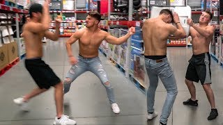 WWE WRESTLING IN PUBLIC STORES *KICKED OUT*