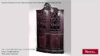 English Antique Corner Cabinet Queen Anne Cabinets And