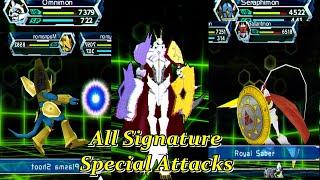 Digimon Adventure PSP 2019 100% All Special Attacks / All Mega Evolution