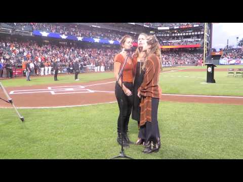 T Sisters Sing National Anthem