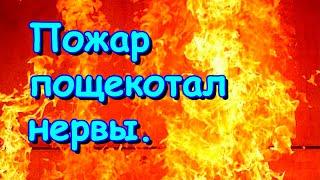 Пожар недалеко от нас. Пощекотало в 5.30 утра нервы. (09.20г.) Семья Бровченко.