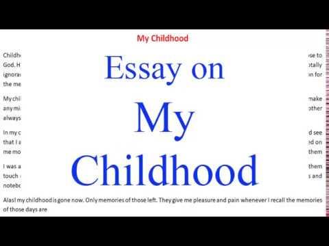 My childhood essay