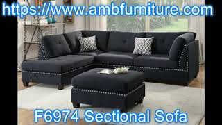 F6974 black sectional