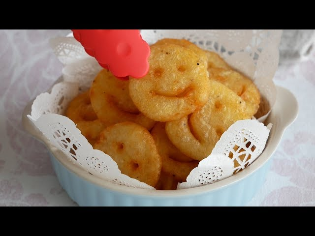 コストコみたいなスマイルポテト作ってみた! | Potato Smiley | Homemade Crispy Smiley Recipe