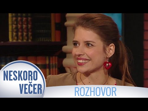 Speváčka Sima Martausová v Neskoro Večer