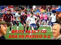 BRITS REACT TO USA vs Mexico 3-2 Extended Highlights!! | OFFICE BLOKES REACT!!