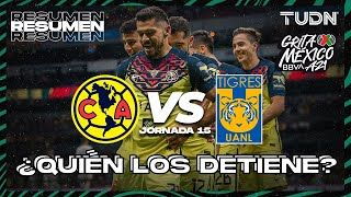 Resumen | América vs Tigres | Grita México BBVA AP2021  J15 | TUDN