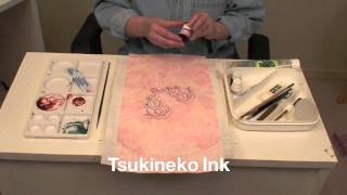 How to Color Machine Embroidery Designs with Tsukineko Inks