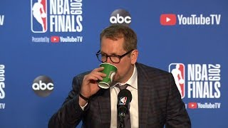 Nick Nurse Postgame Interview - Game 4 | Raptors vs Warriors | 2019 NBA Finals