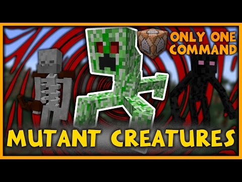 Mutant Creatures in One Command (Minecraft 1.10)