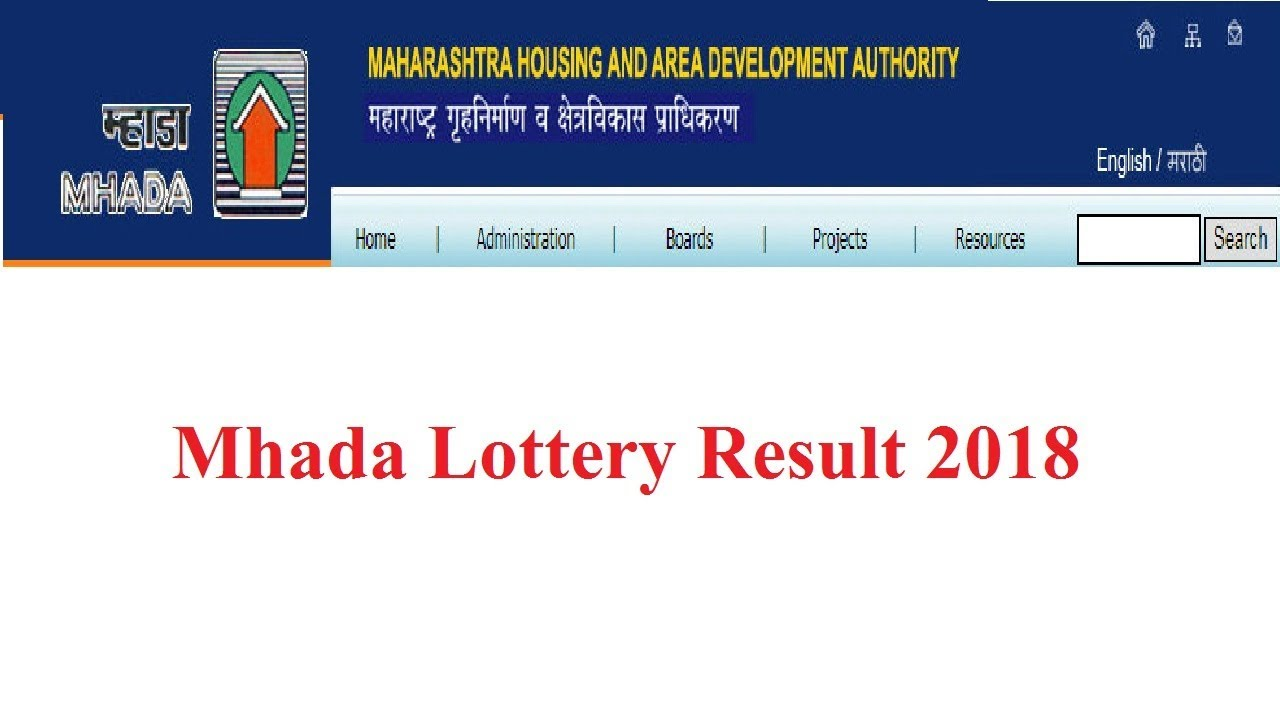 Mhada Lottery Result 2018 | Mumbai Lottery Live Online Winner List