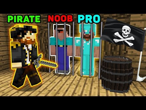 Minecraft NOOB vs PRO : HOW TO ESCAPE FROM PIRATE PRISON? IN MINECRAFT! ANIMATION!