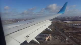 Посадка самолета в аэропорту Пулково  Санкт Петербург
