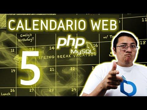 Calendario web con PHP y MySQL utilizando fullcalendar (Video 4