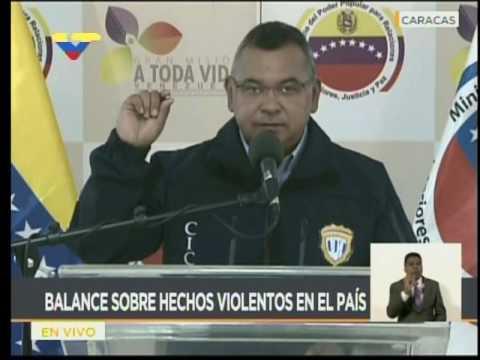 Nestor Reverol informa causa de la muerte de Armando Cañizales y estado de arrollado por tanqueta