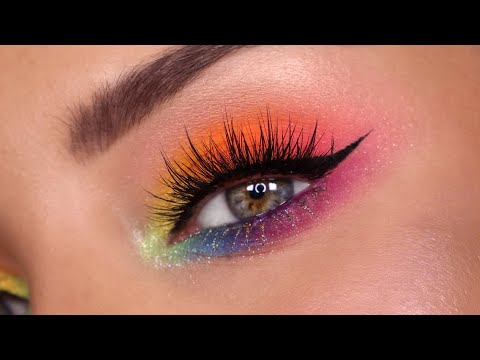Seamless Rainbow Eye Makeup Tutorial \\ PRIDE