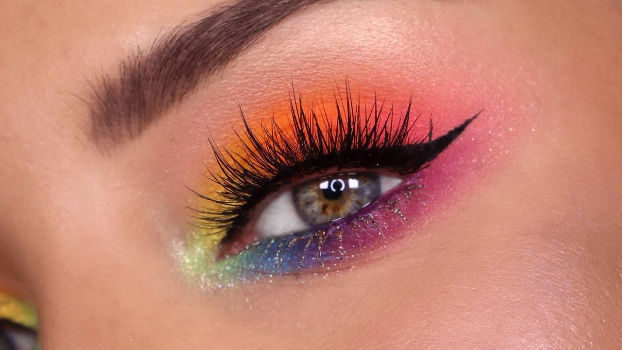rainbow eyeshadow look