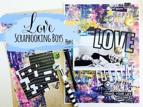 Scrapbooking Boys | Process Video | Lauren Hender