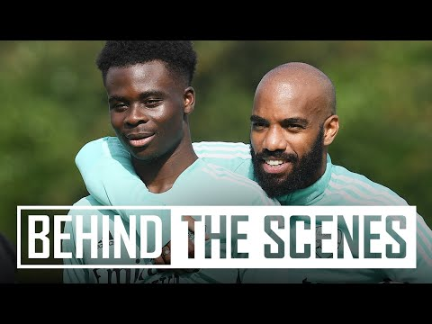 Getting set for the north London derby! | Behind the scenes at Arsenal training centre