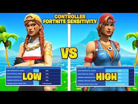 High vs. Low Sensitivity For Controller Fortnite Players! (Fortnite Tips PS4 + Xbox)