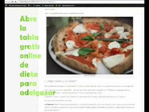 Pizza dieta disociada