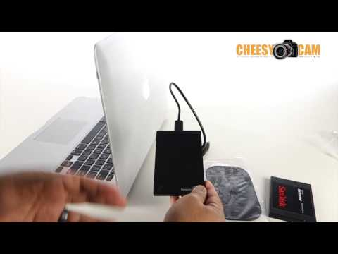 DIY Semi-permanent Hard Drive Mount Hard to Back Of Laptop Screen
