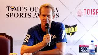 TOISA Brand Ambassador Stefan Edberg World No.1 Tennis Player Press Confrence In Mumbai