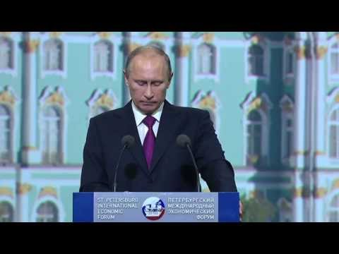 St Petersburg International Economic Forum plenary session