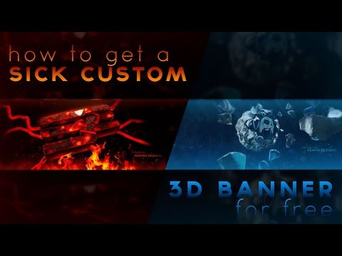 How To Get A Sick Custom 3D Banner - For Free