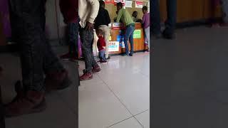 Mahi baby playing CBE in a bank