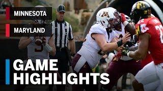Highlights: Minnesota Golden Gophers vs. Maryland Terrapins | Big Ten Football