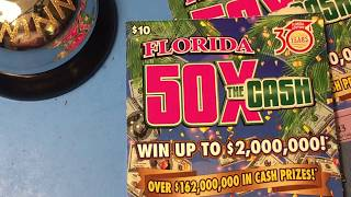 Florida Lottery Scratch Offs - 50X the Cash Tickets