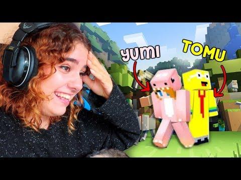 Watch : Yumi och Tomu LÄR MIG MINECRA...