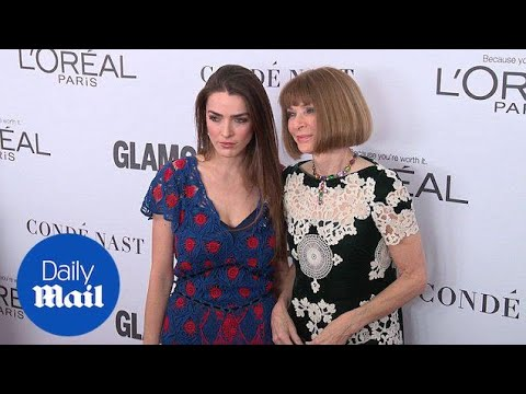 Anna Wintour with Bee Shaffer at Glamour's Woman of the Year - Daily Mail