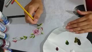 Como pintar folhas usando as novas tintas da acrilex