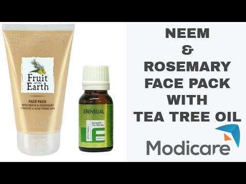 MODICARE'S NEEM AND ROSEMARY PACK WITH TEA TREE OIL APPLICATION BY MLM GURUJI