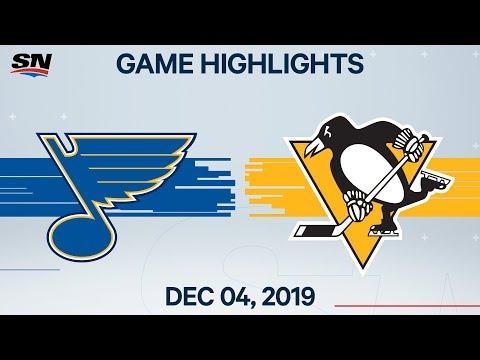 NHL Highlights   Blues vs Penguins – Dec. 4, 2019