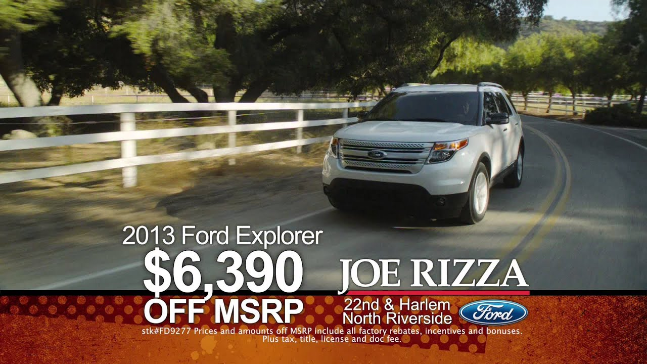 Joe Rizza Ford North Riverside Summer Savings Event