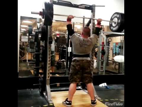 325 lbs Strict Press (Standing Military Press