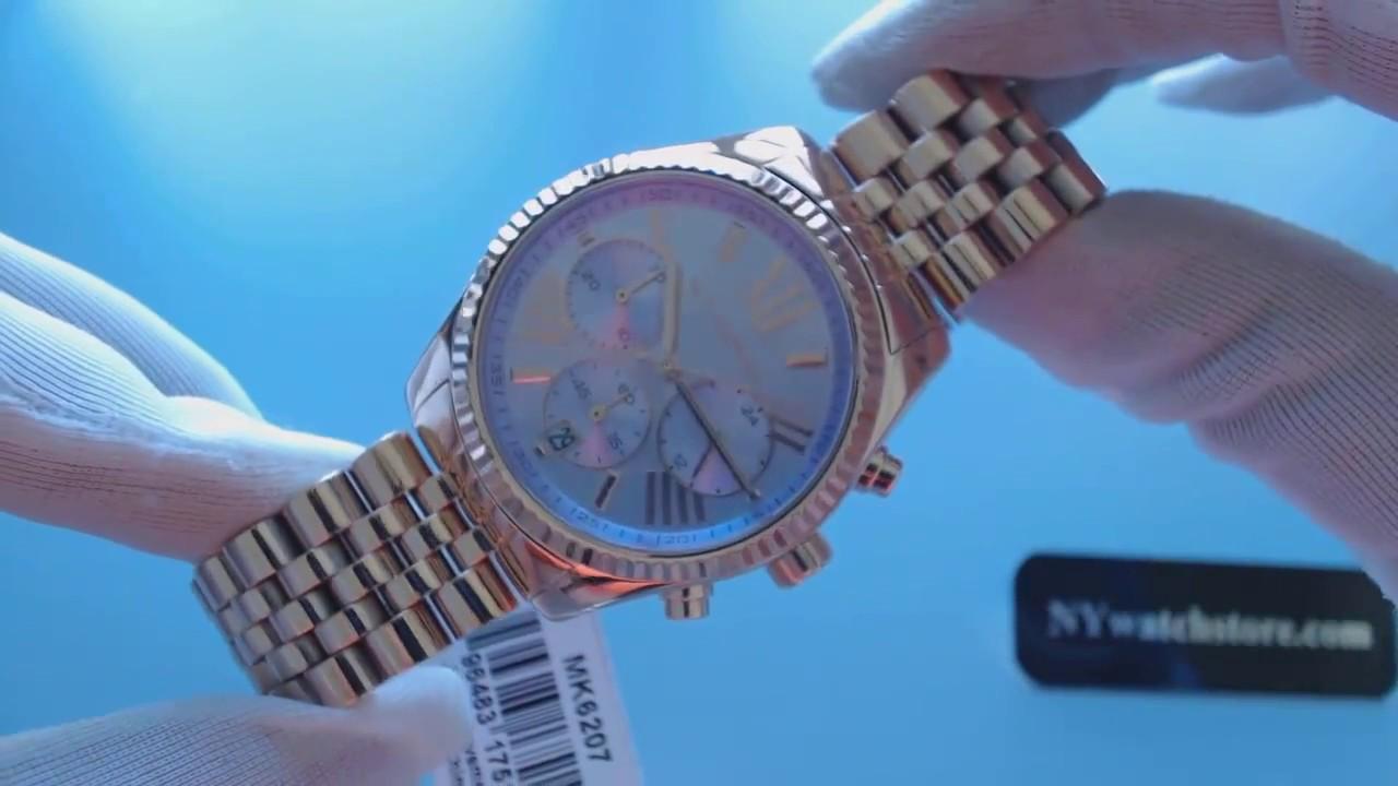 083e863d8009 Women s Rose Gold Michael Kors Lexington Chronograph Watch MK6207 ...