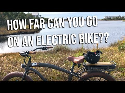 How far? Take an Electric Bike Ride with 30A and YOLO!