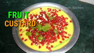 Fruit custard recipe/desert recipe/Mixed fruit custard/Guru classic kitchen