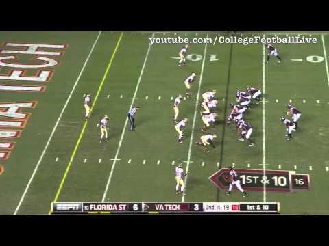 Florida State DE Bjoern Werner vs Virginia Tech ᴴᴰ