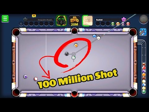 8 Ball Pool 100 Million Shot -OUT OF THE WORLD LUCK- -Deepak's Road Ep 26- Free Coins Link