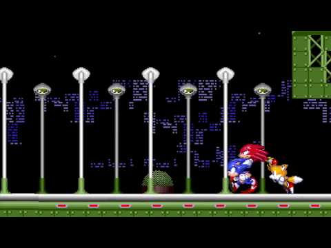 Sonic, Tails & Knuckles in Star Light Zone (Sprite Animation)