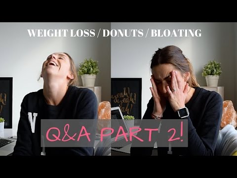 My Weight Loss / Eating Donuts / Bloating Tips! | Q&A PART 2